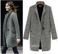 Бесплатная доставка женские зимние куртки и пальто Большой размер теплый шерстяной жакет мода пальто