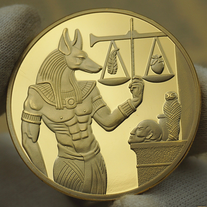 Aliexpress Com Buy Egypt Anubis Gold Silver Plated