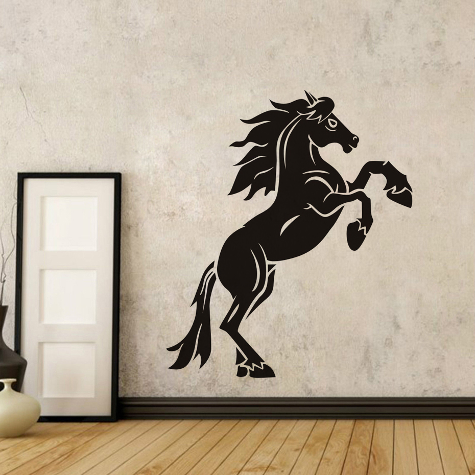 Creative Design Jumping Horse Wall Stickers For Living ...