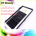 Free shipping 0.10 C curl 11-13mm High quality mink eyelash extension,individual eyelashes extension