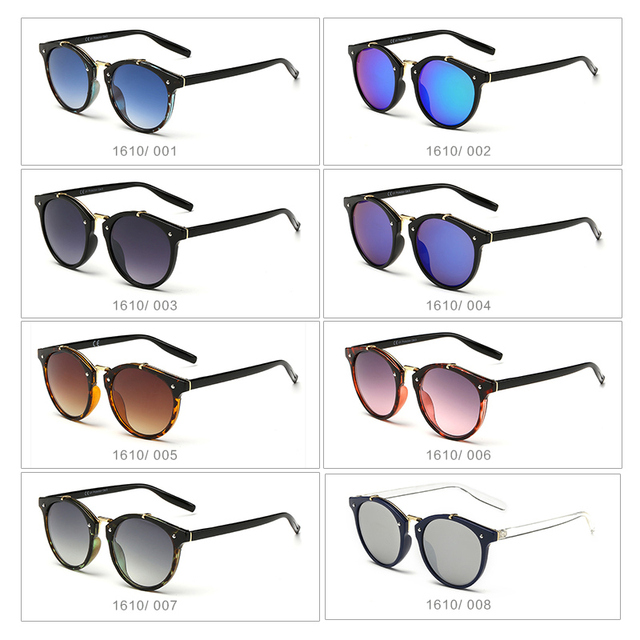 Luxury Cat Eye Sunglasses Women Men Brand Designer Vintage Round Sun Glasses For Women Female Ladies Sunglass Mirror UV400 gafas 3