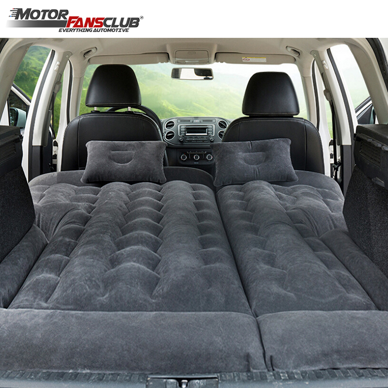 164*132cm SUV Inflatable Car Travel Bed Camping Adjustable Air Mattress Seat Cover Pillow Flocking Cloth Ventilate Outdoor Kids