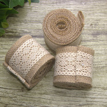 The new cotton side of the natural linen roll jute Christmas decoration rolls
