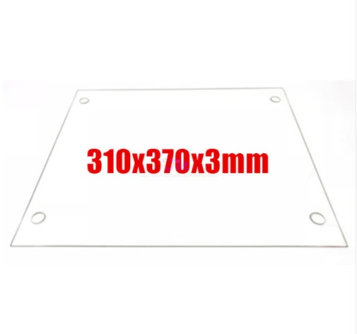 <font><b>3D</b></font> Printers <font><b>Parts</b></font> 310x370x3mm Borosilicate Glass Plate Flat w/ Screw Holes Polished Edge For DIY <font><b>Tevo</b></font> <font><b>Tornado</b></font> <font><b>3D</b></font> printer image
