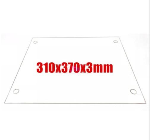 3D Printers Parts 310x370x3mm Borosilicate Glass Plate Flat w/ Screw Holes Polished Edge For DIY Tevo Tornado 3D printer