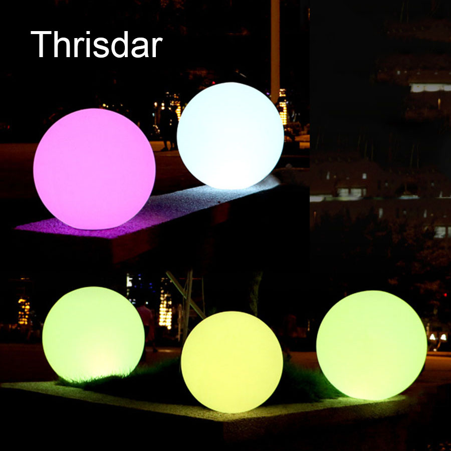 7 Color RGB LED Floating Magic Ball Led illuminated Swimming Pool Ball Light IP68 Outdoor Furniture Bar Table Lamps With Remote купить
