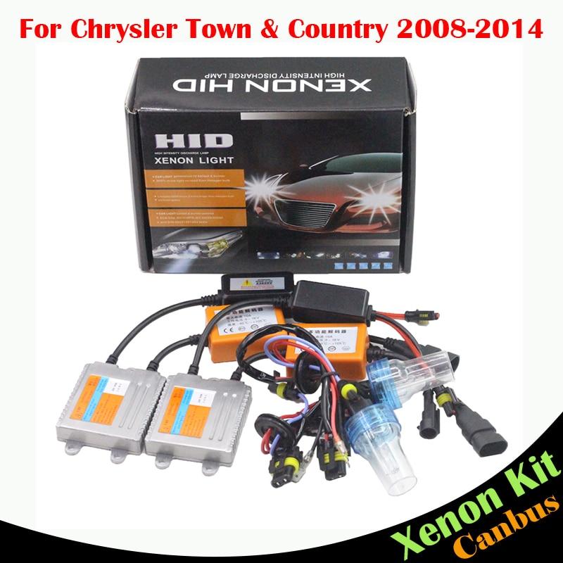 ФОТО Cawanerl 55W Canbus Ballast Bulb HID Xenon Kit AC 3000K-8000K Car Headlight Low Beam For Chrysler Town & Country 2008-2014