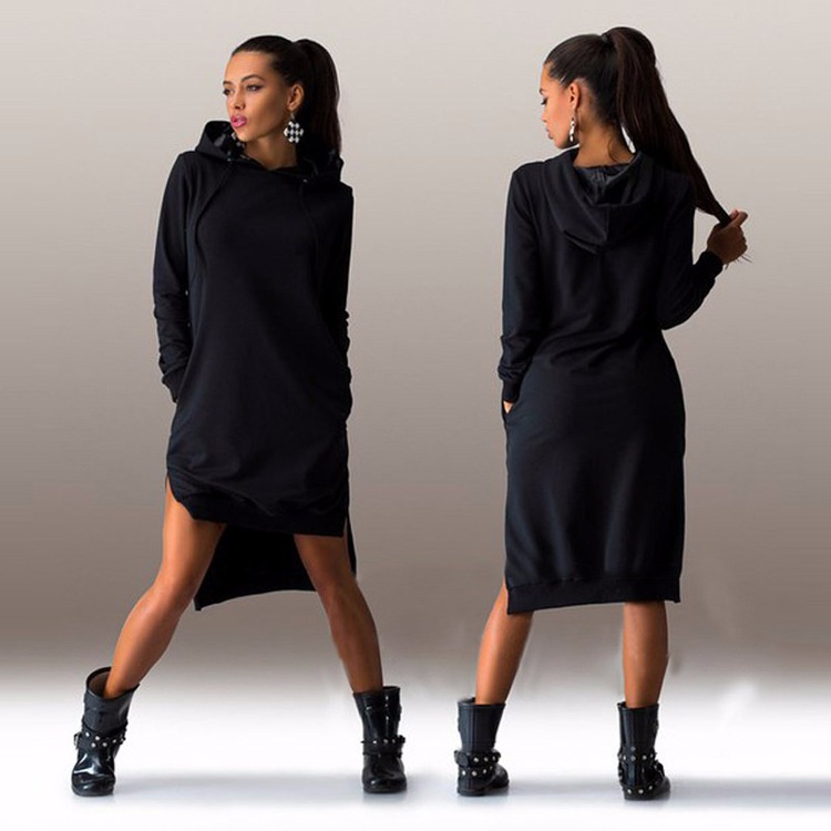autumn 2016 hoodies long sleeve slim sweatshirt women hoody dress