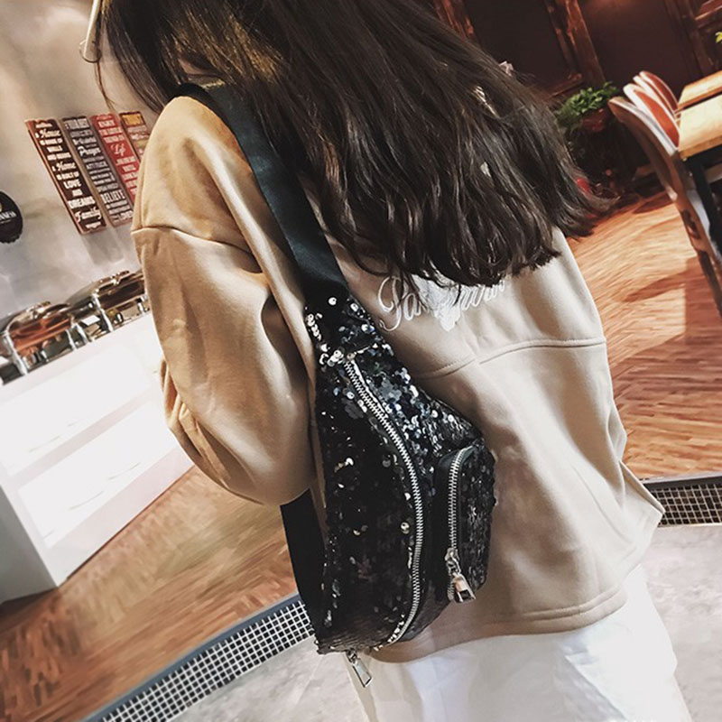 2018 Neue Mode Mode Taschen Pailletten Taille Tasche Tasche Multifunktionale Lagerung Kosmetik Tasche Bs88