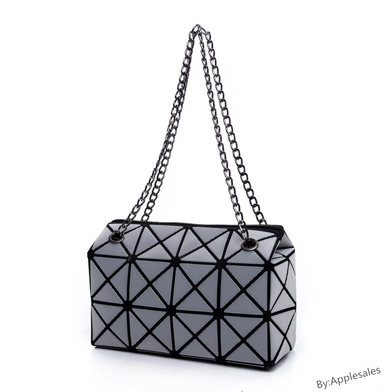 Women Fashion BAOBAO Bag Geometry Sequins Mirror Bags Luminous Handbags Designer Tote Shoulder For Sacs