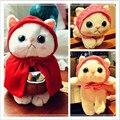 Симпатичная плюшевая игрушка в виде кошки, 25 см, мини-животное, мягкая кукла, японское аниме ЧОО, кошка, Детская Успокаивающая игрушка, лучши...