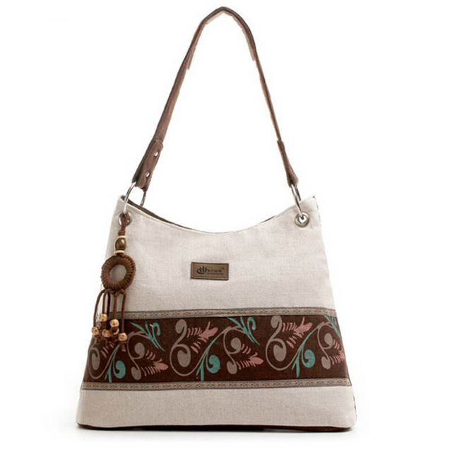 Tendencia nacional de lino blanco de la vendimia del hombro bolsa de mensajero de La Venta Caliente Nuevo 2017 mujeres de la manera del bolso QT-223