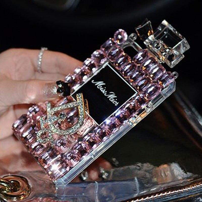bilder für Parfüm case bling diamant coque silicon case für samsung galaxy s8 plus s8 s7 rand s6 edge plus s5 s4 s3 case abdeckung fundas capa