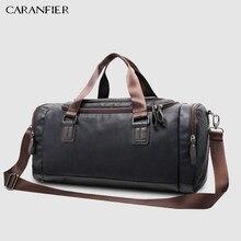 c24d564ab6f0 CARANFIER Мужская сумка из искусственной кожи большой емкости Дорожная сумка  мульти-функция сумки через плечо