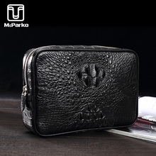 все цены на McParko Crocodile Clutch Bag Men Genuine Leather Clutch Wallet Business Luxury Cltuches bags Male Real Alligator Skin Bags Men онлайн