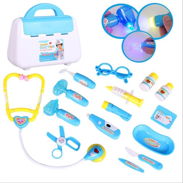 Anak Anak Dokter Perawat Mainan Set Lampu Suara Kit Berpura Pura