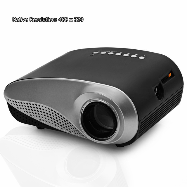 H60 Mini LED Projector Portable Home Cinema Theater LCD with HDMI / VGA / USB + Remote Control Proyector EU Plug Mini Projector