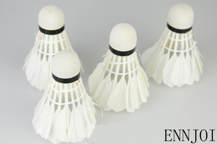 12pcs/lot Training White Duck Feathers Badminton Shuttlecocks Entertainment Product Badminton Balls with Can