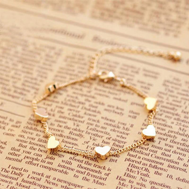 Fashion New Women Girls Bracelets Alloy Tiny 5 Point Stars Love ...