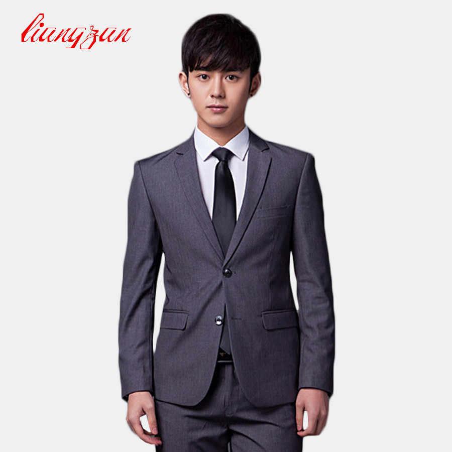 1c8f29a99b6e4d (Jacket+Pant+Tie) Men Wedding Suit Sets Formal Fashion Slim Fit Business