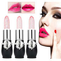 New 2018 3PCS/Set Lipstick Sexy Long-lasting Beauty Bright Crystal Jelly Lipstick Magic Temperature Change Color Lip Balm Makeup Health & Beauty