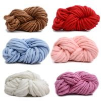 250g Colorful Dye Scarf Hand Knitted Yarn For Hand Knitting Soft Milk Cotton Yarn Thick Wool