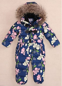 Winter Newborn Boys Bodysuits Baby Turtleneck Down Coats Girl Snow Wear Natural Fur Jackets стоимость