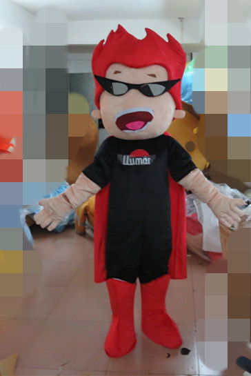 Adult cartoon character cute red hair boy Mascot Costume fancy dress party costumes for Halloween party