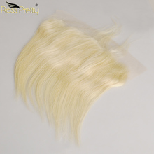 Straight Lace Frontal Blonde Color Pre Plucked Malaysian Human Hair Remy 613 Front 13x4 Middle and free part