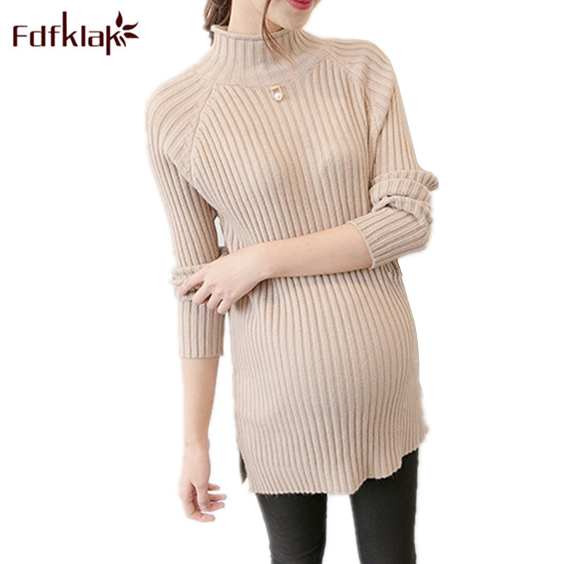 Fdfklak White Maternity Clothes Sweaters Maternity Long Sleeve Tops 2018 Spring Autumn Knitted Pullover Pregnant Sweaters F156