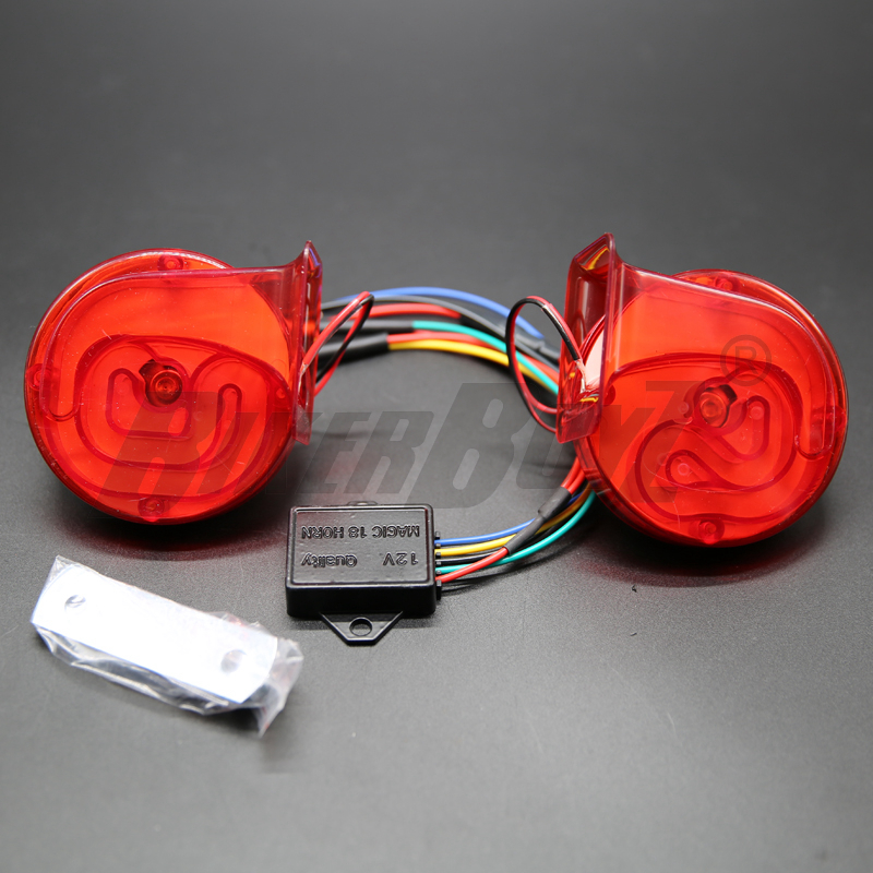 2PCs 12V 120DB Digital Electric Loud Air Horn 20 Sounds Car Truck Motorcycle Auto Accessories