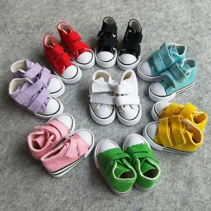 50Pairs lot New 7 5CM Canvas Dolls Shoes For BJD Dolls