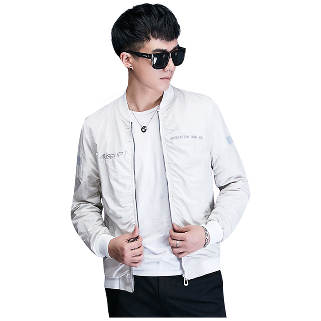 White Bomber Jacket Men Autumn Summer Hip Hop Streetwear Jackets Men  Clothes 2018 Ropa De Hombre 2018 Mens Clothing 50J0210 5cee4c1a600