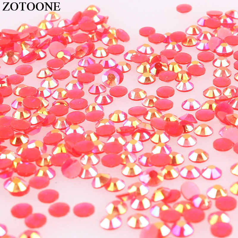 ... Feedback Questions about ZOTOONE 1000Pcs Stones And Crystals AB Red  Rhinestones For Clothes Seing Accessories DIY Flat Back Hot Fix Rhinestone  Nail Art ... 3973a9e32f17