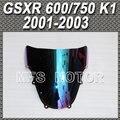 Свет иридий Магия цвета Лобовое Стекло/Ветрового Стекла Double Bubble Для Suzuki GSX-R 600/750 K1 2001 2002 2003