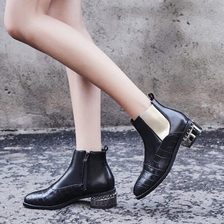 Большие размеры 9, 10, 11, 17; ботинки; женская обувь; ботильоны для женщин; женские ботинки; обувь на каблуке с боковой молнией