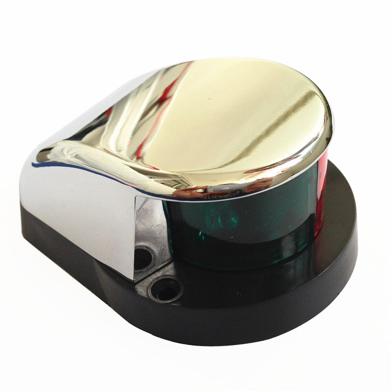 Image 3 - 1 Piece Marine Boat Yacht Bi Color Signal Lamp 12V LED Bow Navigation Light-in Marine Hardware from Automobiles & Motorcycles