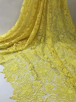 yellow african pure colour water soluble lace fabric 5yards free shipping good quality laser guipure lace for dress rfno212