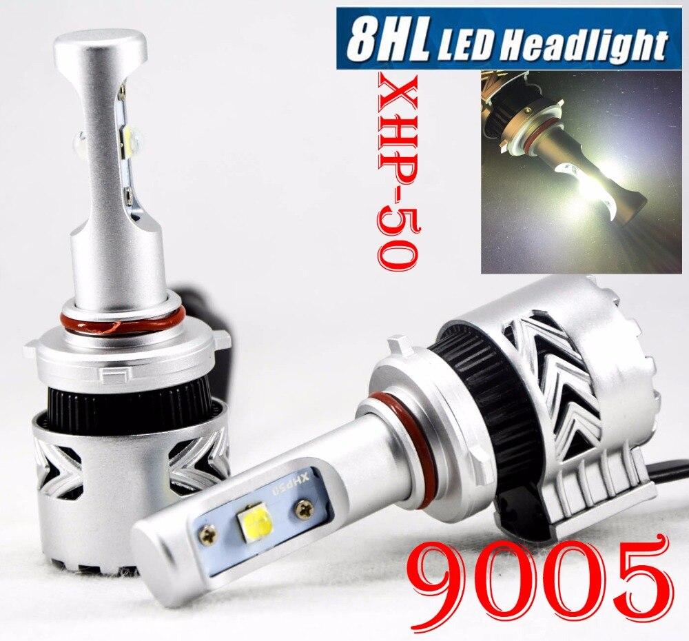 1 ensemble 9005 HB3 80 W 12000LM G8 phare LED Kit XHP-50 4 LED puce SMD Super lumineux 6000 K faisceau unique haute vitesse ventilateur conduite brouillard
