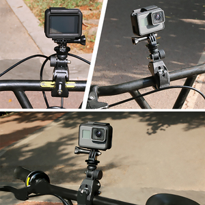 Image 5 - Bicycle Camera Mount 360 Rotation Stand Tripod Adapter For GoPro Cameras Motorcycle Mountain Bike Handlebar Camera Holder