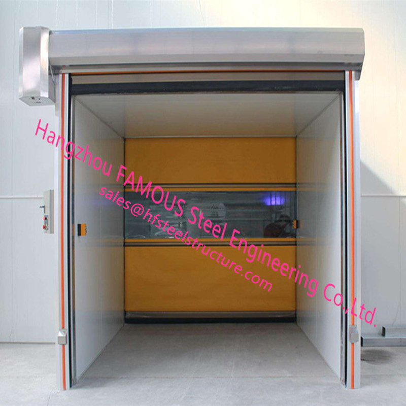 CE/ISO Certificated PVC Plastic Shutter Doors With Manual Or Electric Control Rapid Speed Lifting Doors