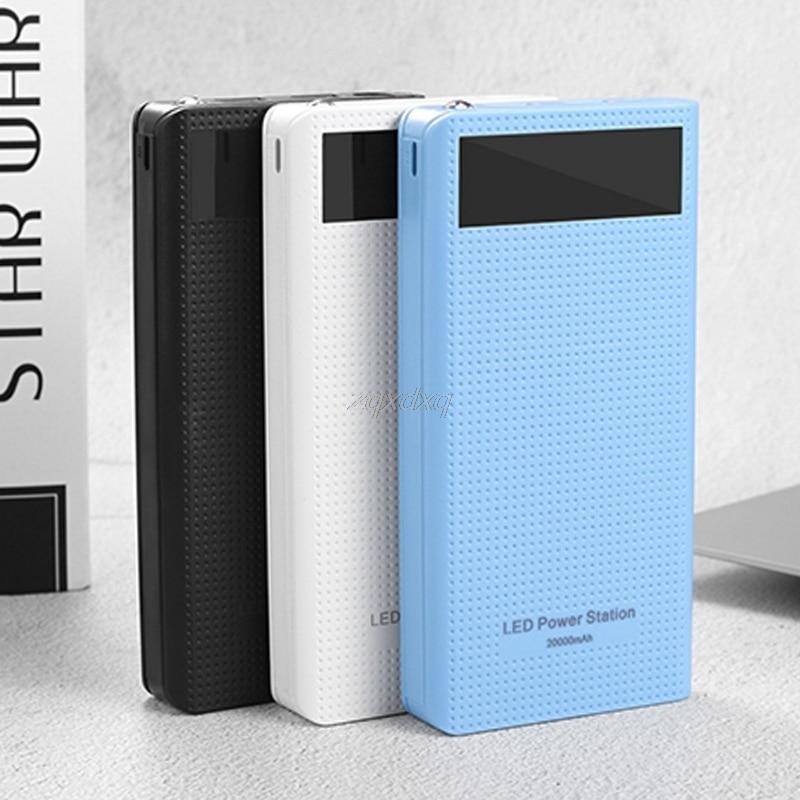 Тип C Dual USB QC3.0 7x18650 Батарея DIY Мощность банка Box Зарядное устройство для сотового телефона июля 201 Drop корабль