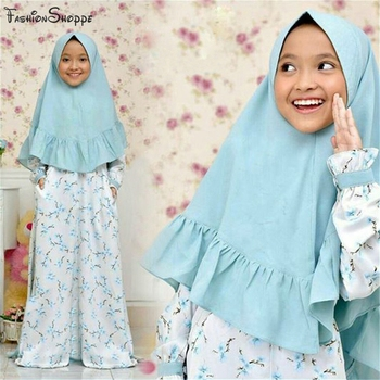 Kids Abaya,Hijab Islamic Clothingab