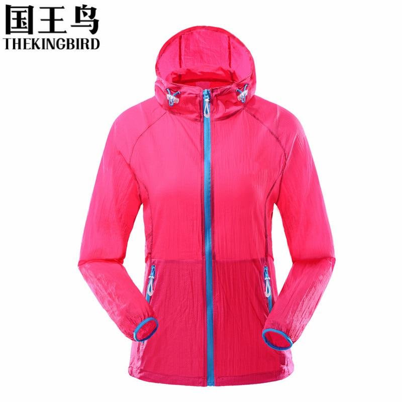 2017 женские тонкие быстрое высыхание тройной супер стрейч дышащий Защита от солнца-защитная пленка одежда Рыбалка ветрозащитная куртка