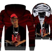 2018 winter casual wool liner jackets coats men rapper hip-hop man's tracksuits funny 3D printed new fashion sweatshirt clothing цена и фото