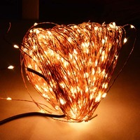 50M 165Ft 500 Leds Copper Wire Warm White White LED String Light Starry Lights Power Adapter