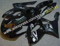 Лидер продаж, ABS Пластик обтекателя комплект для Yamaha YZF600R Thundercat 1997-2007 YZF 600R 97-07 Черный мотоцикл передка часть YZF 600 R