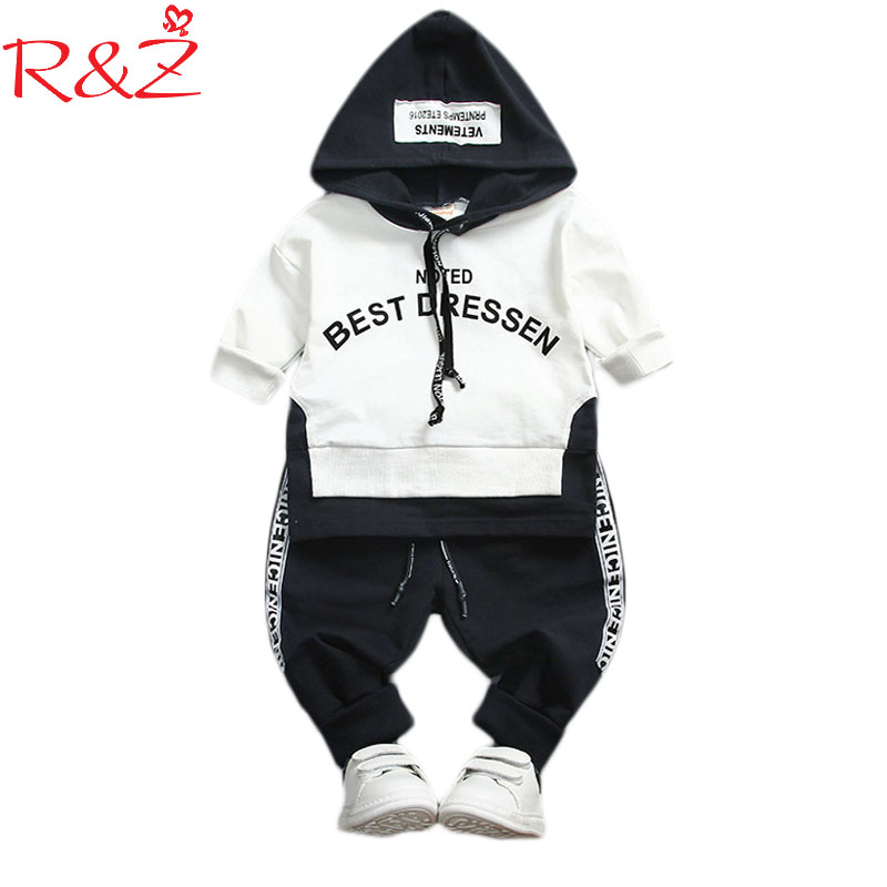 R&Z Baby Boy Girl Clothing Set High Quality Cotton Kids Toddler Clothes Letter Hooded Suit For Boy Infant Long Sleeve 1-4Years baby boy girl clothing set high quality cotton kids children clothes pullover hooded suit for boy girl long sleeve spring sets