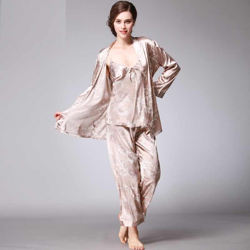feacebfc5b5 ... Summer Women Pajamas Sexy Couple Pajamas Set Men Women Long Sleeve  Sleepwear Lover Night Suits Lovers