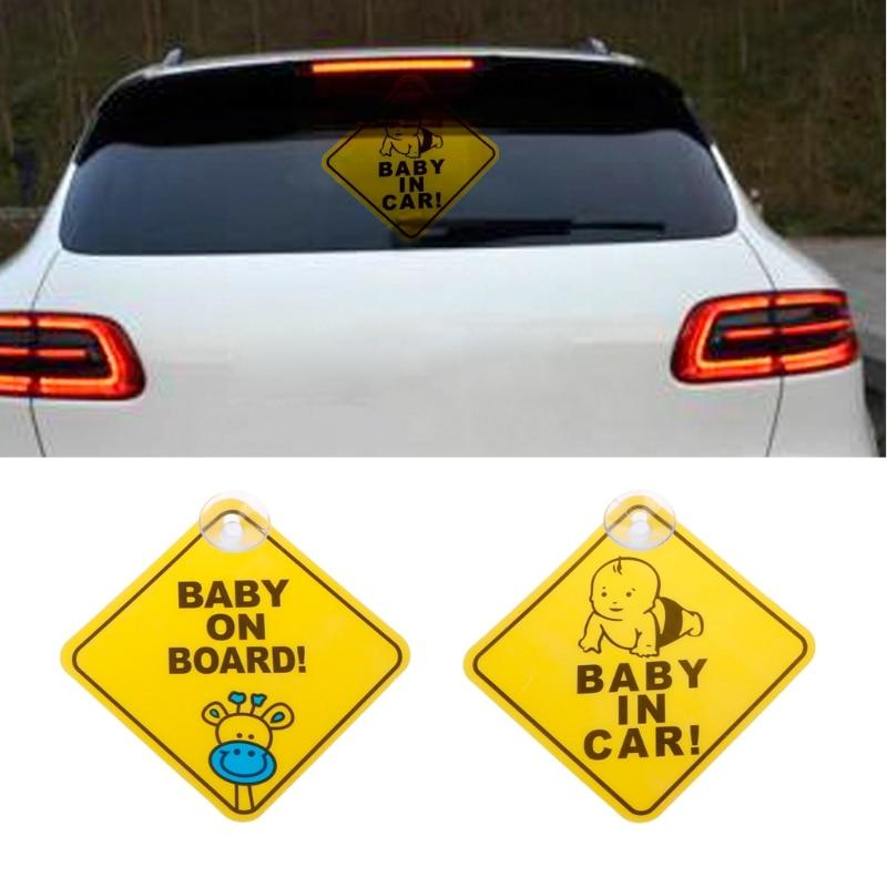 Автомобиль-Стайлинг ребенок на борту сосать ПВХ Предупреждение Марк знак Стикеры окна автомобиля безопасности доска объявлений Прокат авт...